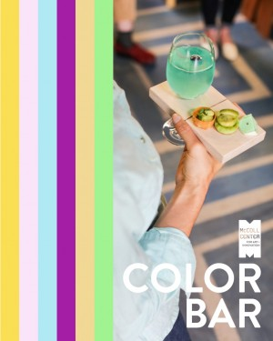 Color Bar   Thursday, September 21, 2017 – Thursday, November 30, 2017, 6–8 p.m. On select Thursday evenings, the artist-baker Leah Rosenberg activates  Color for the People by serving bites and a specialty cocktail inspired by the colors of Charlotte. Participants will receive a limited-edition serving tray made by the artist.