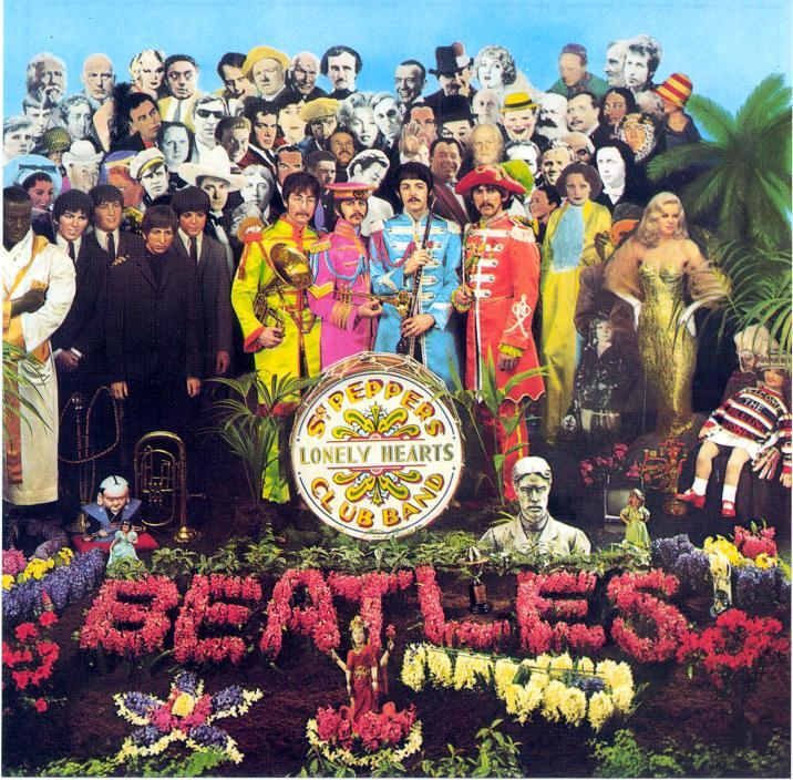 Sgt Pepper album cover,designed by Peter Blake