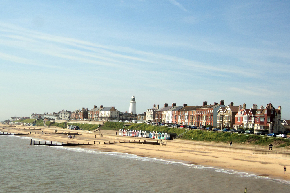 The beach at Lowestoft, take a holiday in Suffolk