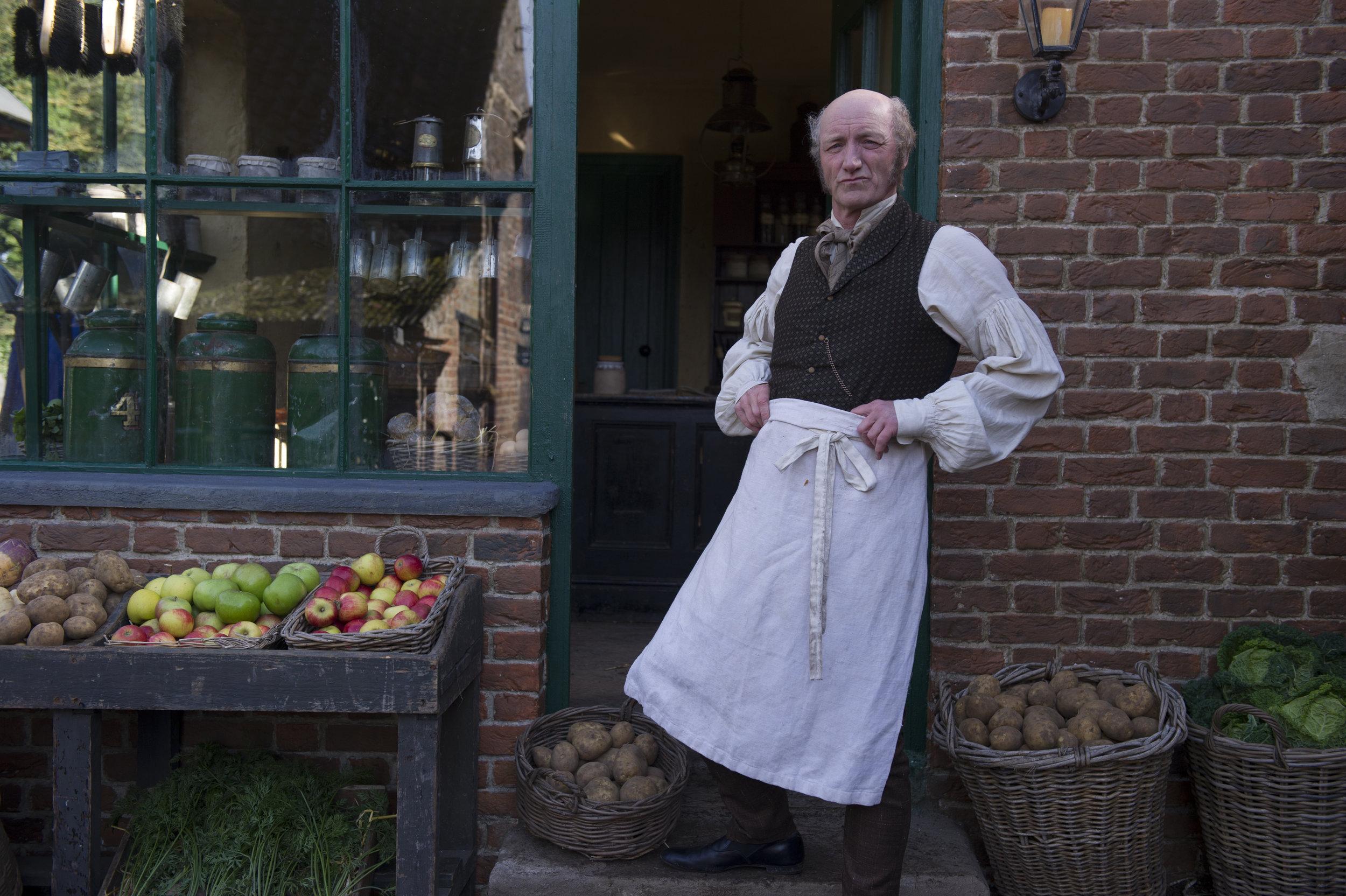 Paul Brennan as Mr Riley in period drama Dark Angel