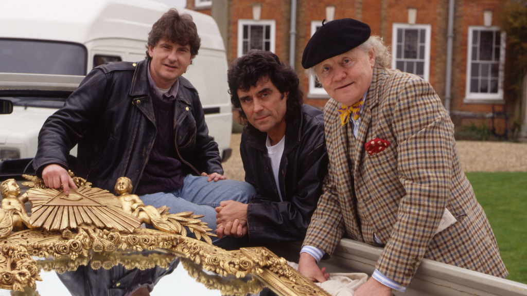 Above: Actor Ian McShane with fellow cast from the BBC Show Lovejoy which was filmed in Suffolk!