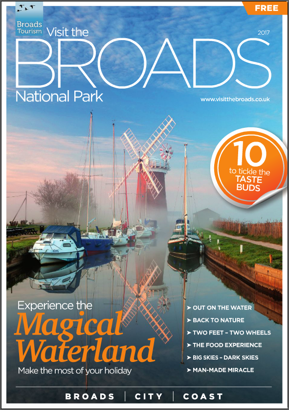 Above: An example of promoting Broads Tourism