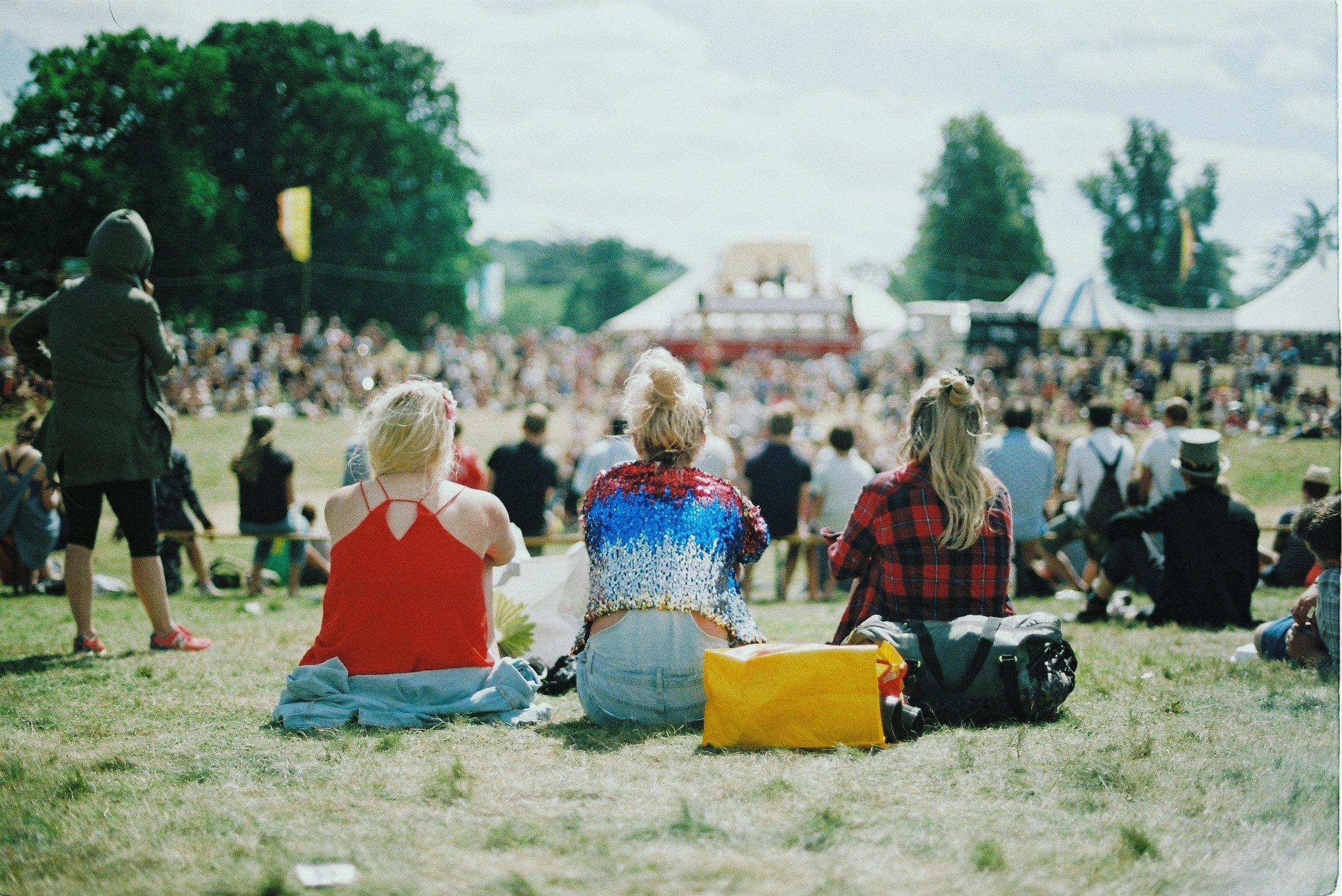 People at a festival near Tingdene Lifestyle Parks