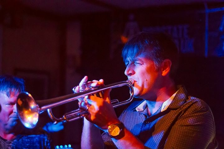 Above: Trumpet player Davie Howes/image courtesy of Paul Castleton