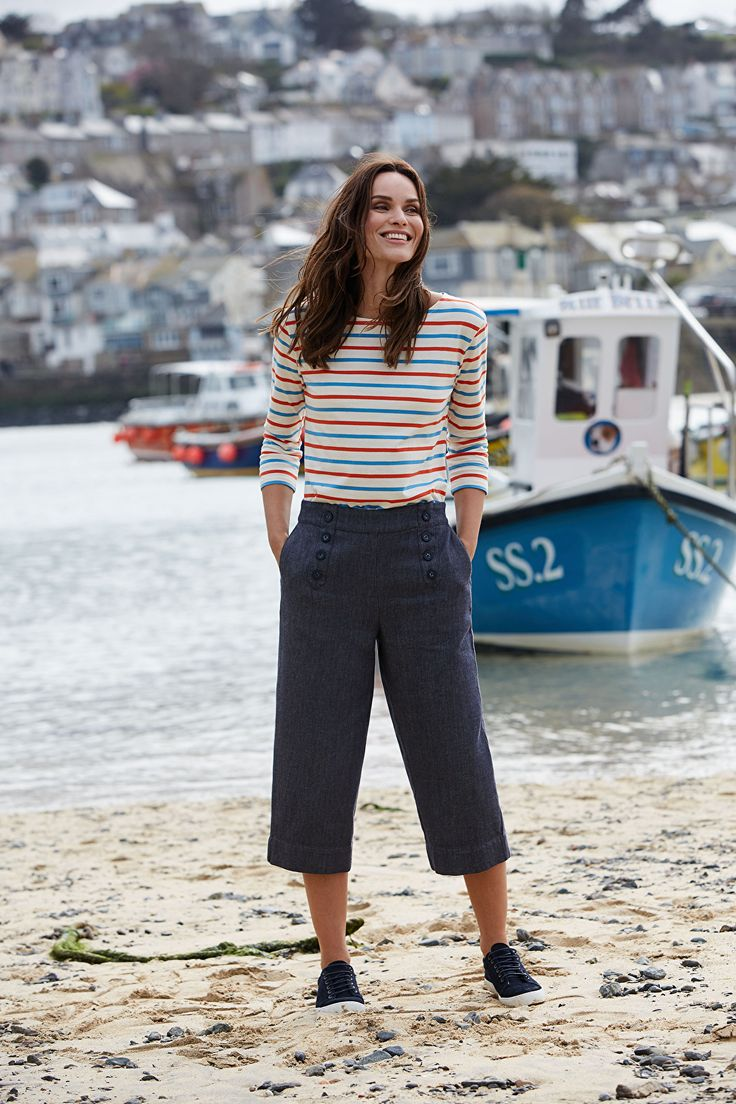 Image: Get a classic Breton style striped jumper for a coastal walk (image from Pinterest)