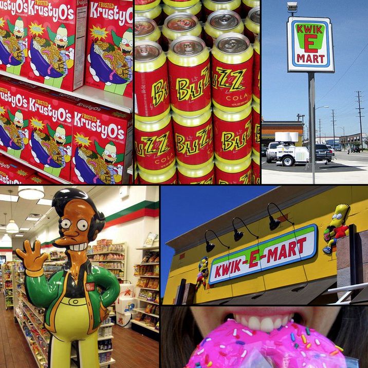 Reverse product placement converting 7-Elevens into Kwik-E-Marts