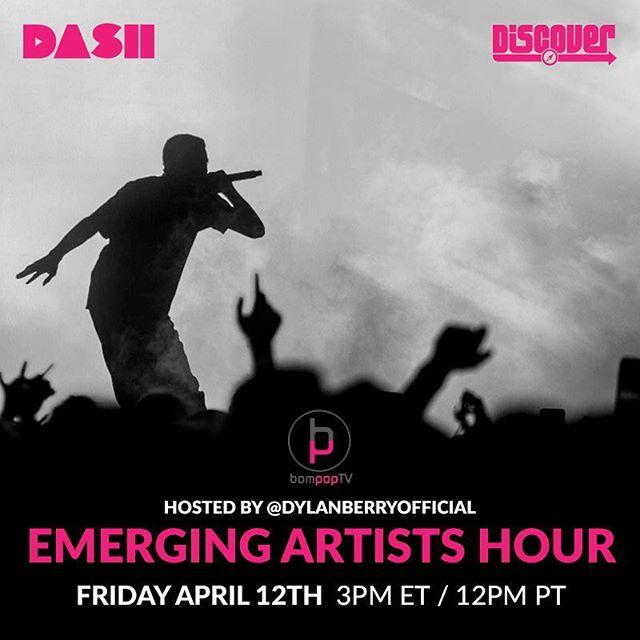 All new Emerging Artist Hour airing now! Tune in to BompopRadio on Dash Discover to listen.  #emergingartist #bompoptv #radio