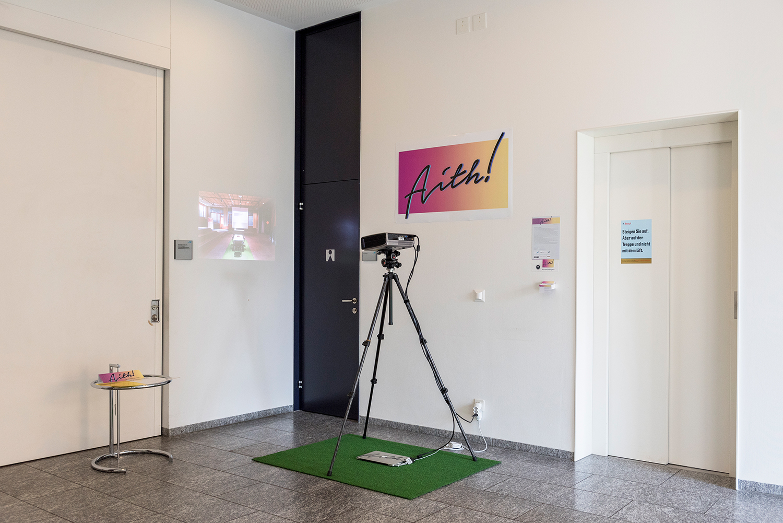 """So präsentierte sich Art in Thalwil an der Ausstellung """"Günewiese"""" im Gemeindehaus in Thalwil."""