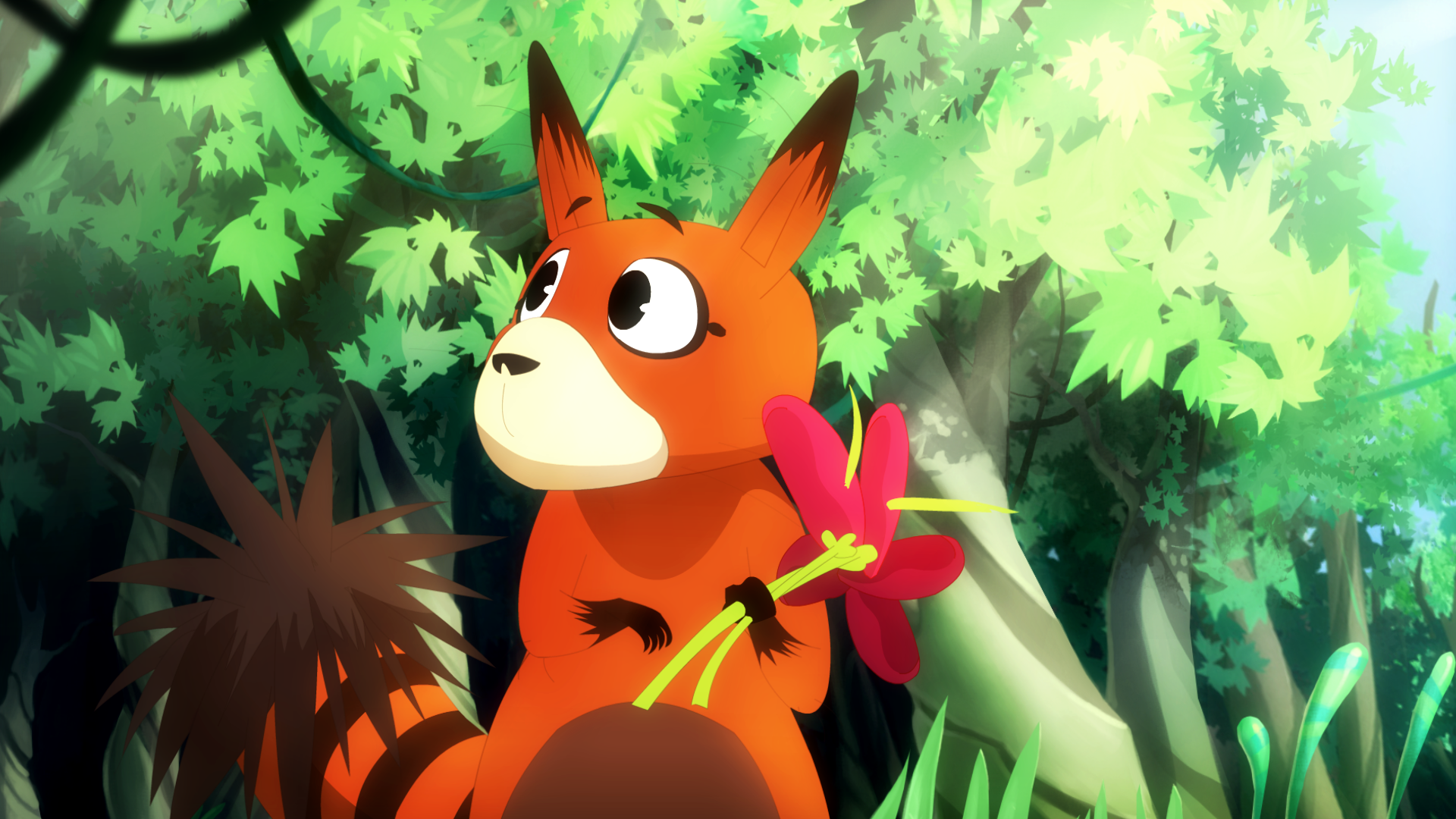 Rakoo explores the forest.png