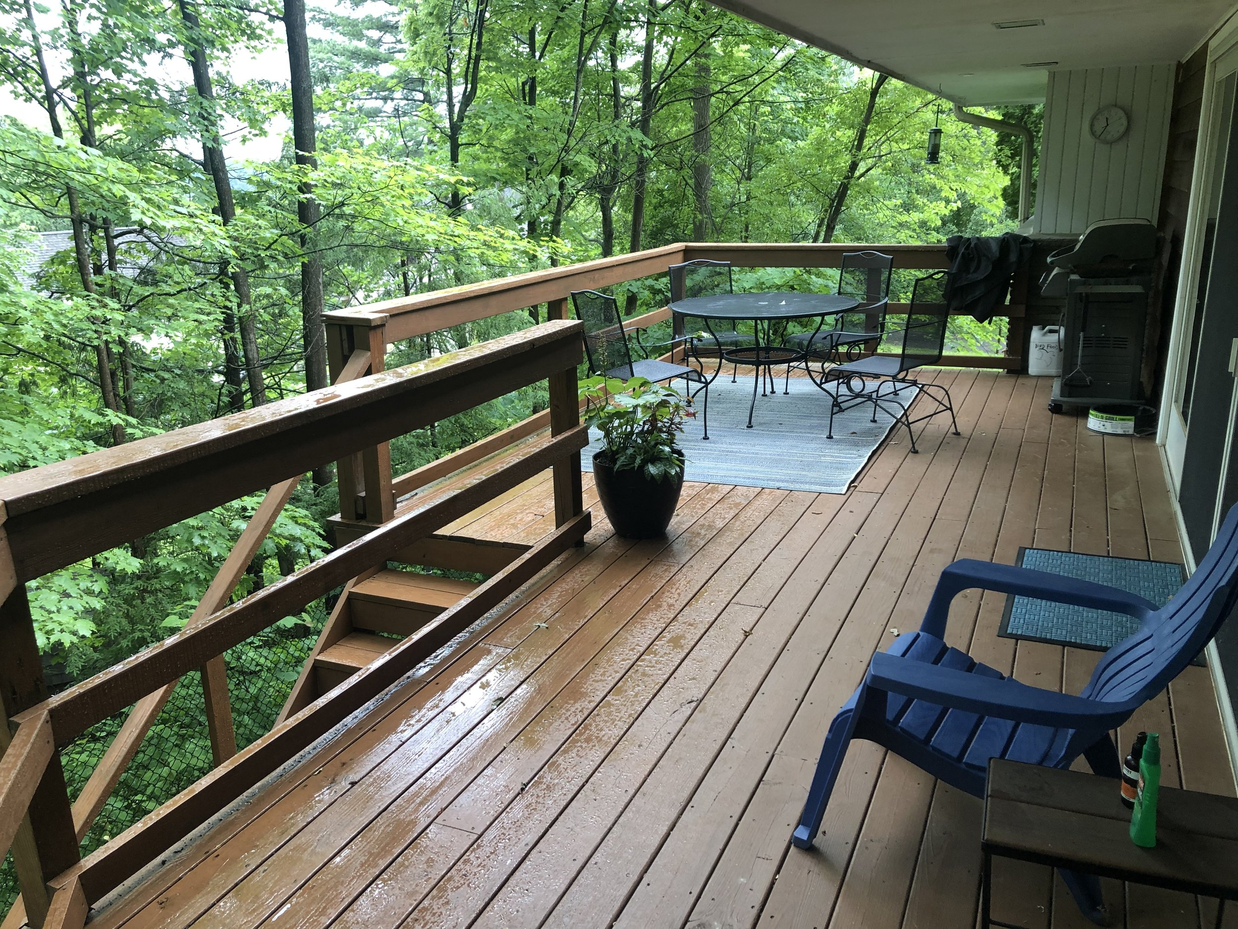 The back deck, with grill
