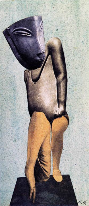 Figure 4.  Denkmal I: Aus einem ethnographischen Museum  (  Memorial I: From an Ethnographic Museum  ), 1924, Berlinische Galerie, Berlin.