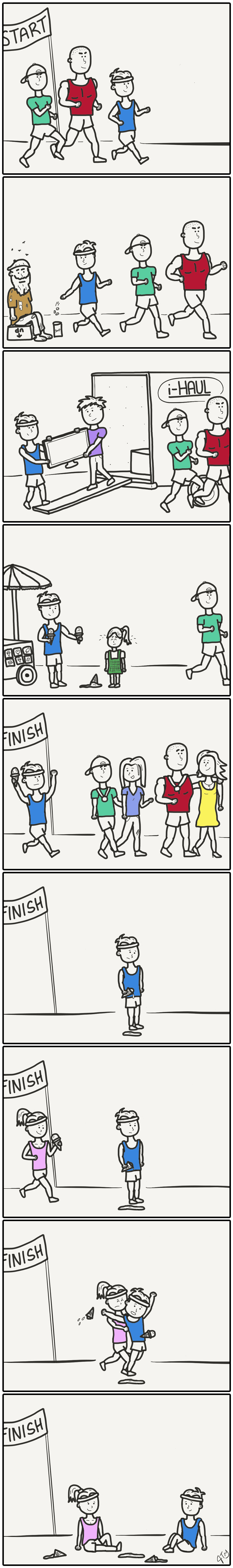 """Cover photo: """"Nice guys finish last"""" by  Joe Gallo . Click on the image to read the entire comic."""