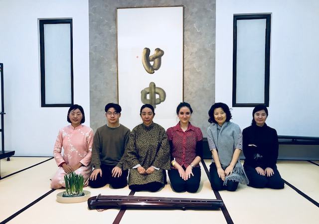 Yang Chunwei and her students at a private lesson in her studio in NE Beijing.