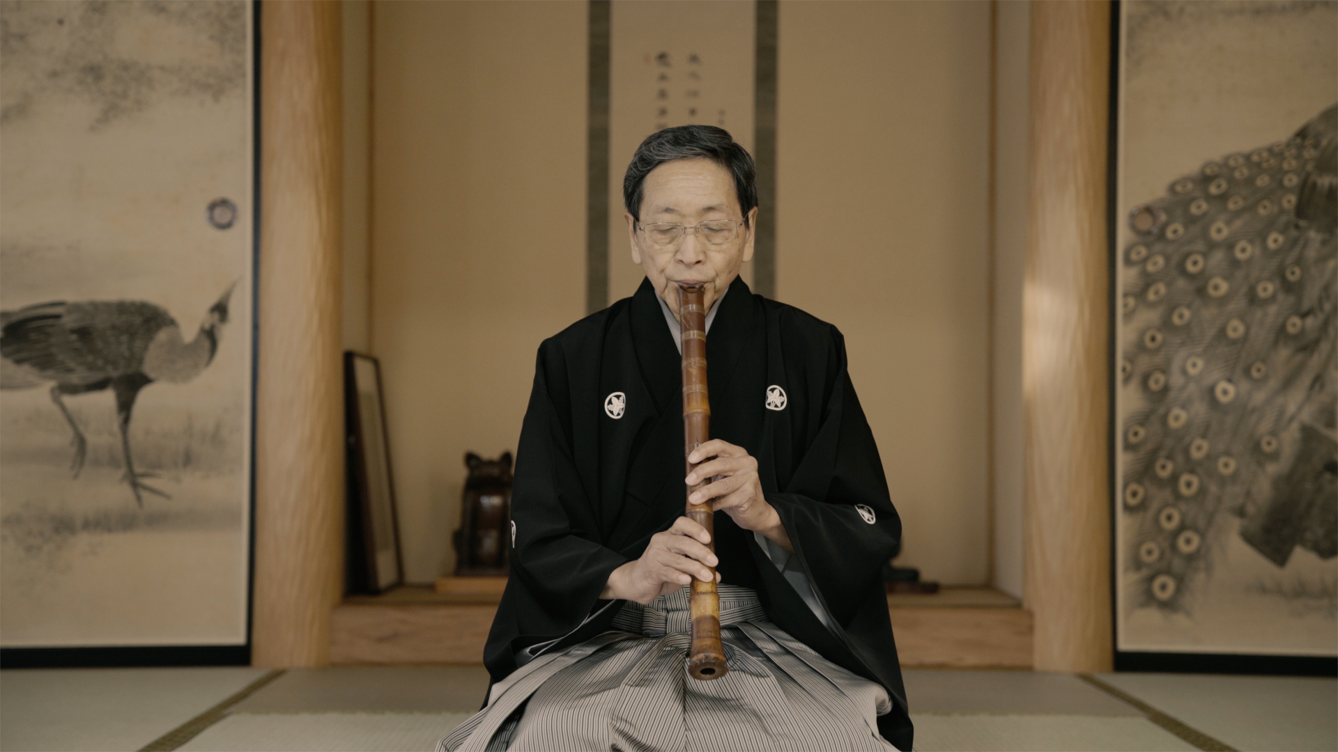 Mizuno Kohmei, President of the Chikumeisha Guild for Shakuhachi and former student of original Golden Record performer and Japanese national treasure Yamaguchi Goro