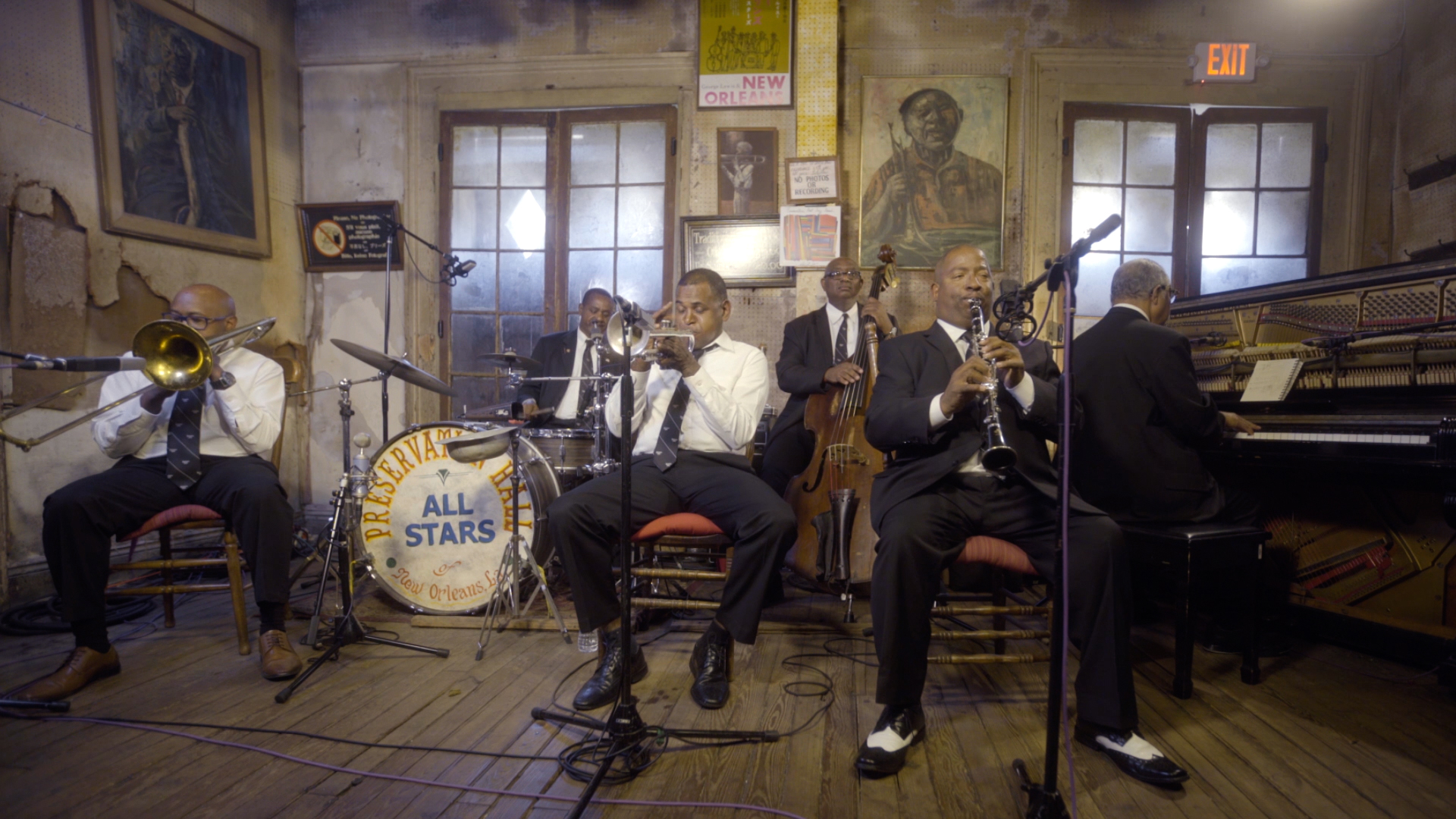 "Preservation Hall Legacy Band performing Louis Armstrong's ""Melancholy Blues"""