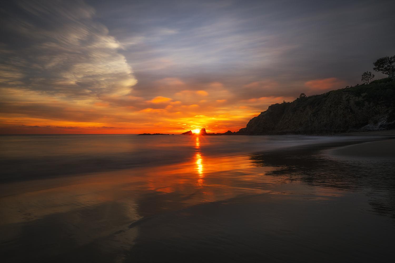 Laguna Beach, California sunset using the Hoya Intensifier.