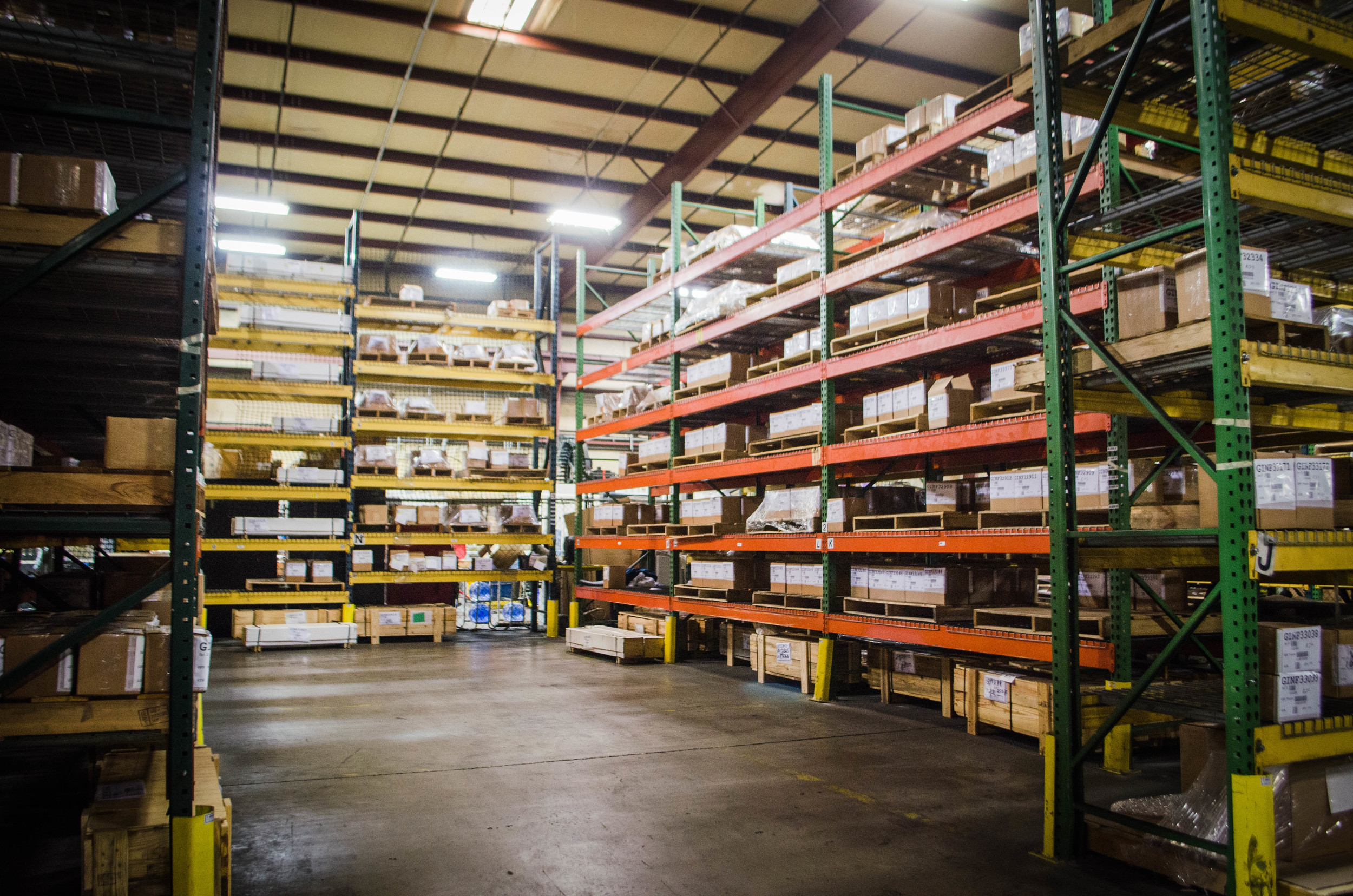 Environmentally controlled, heated, dry and secure warehousing.