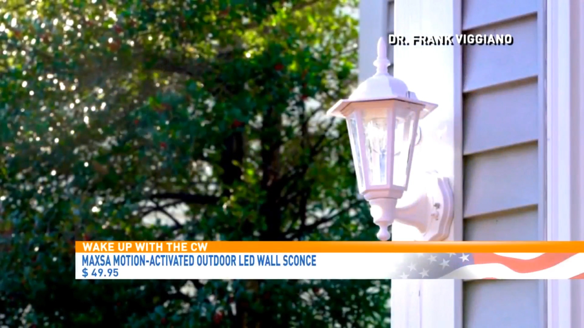 MAXSA MOTION-ACTIVATED OUTDOOR LED WALL SCONCE - $49.95,available exclusively on HSNShop Now