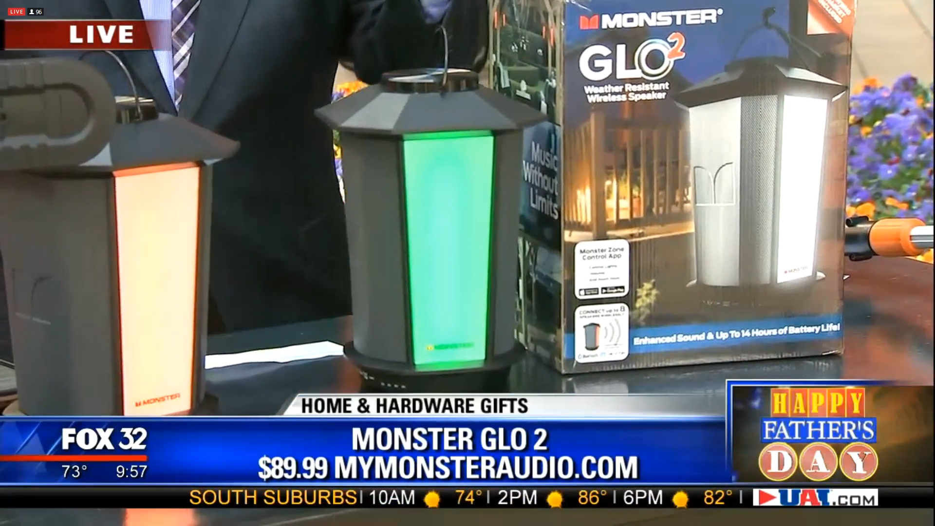 MONSTER GLO 2 (BLUETOOTH LANTERN SPEAKER - $89.99Shop Now