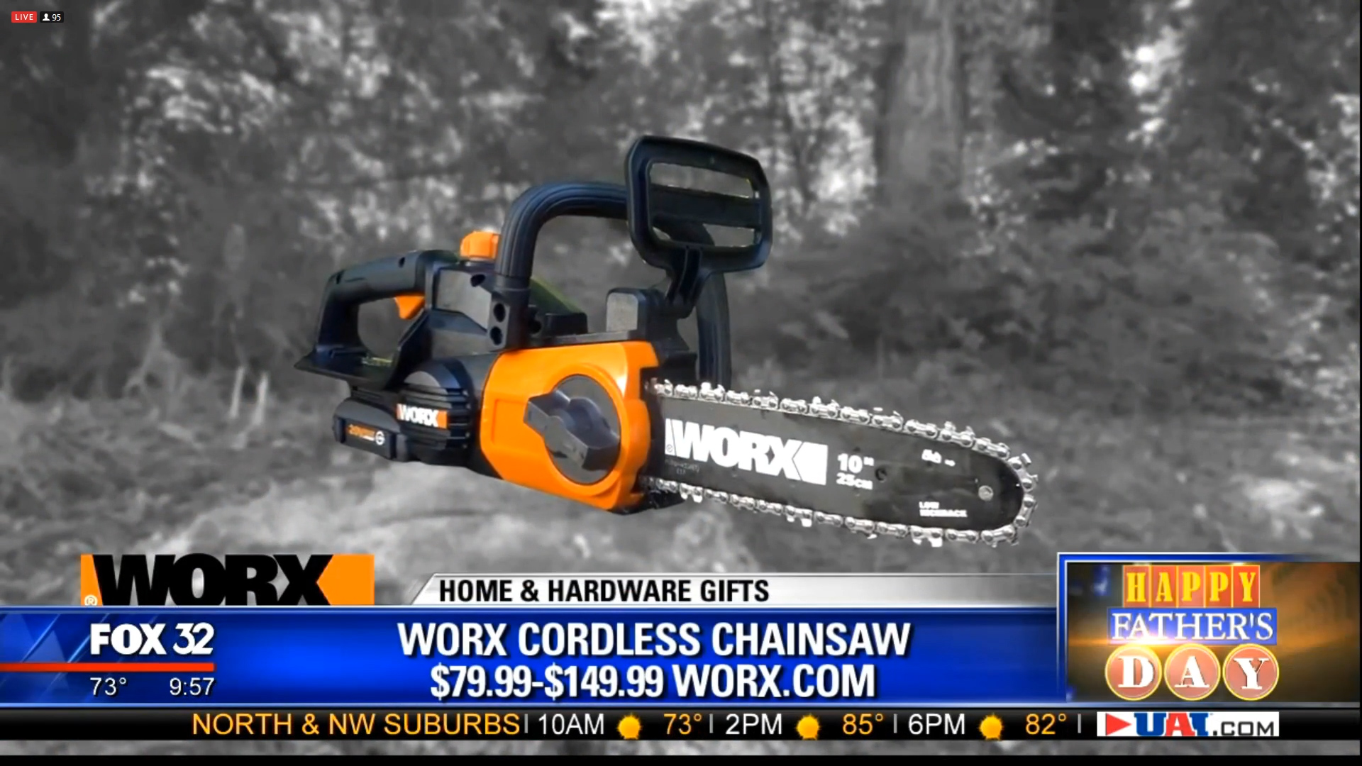 WORX CORDLESS CHAINSAW – POLESAW - $79.99 to $149.99Shop Now