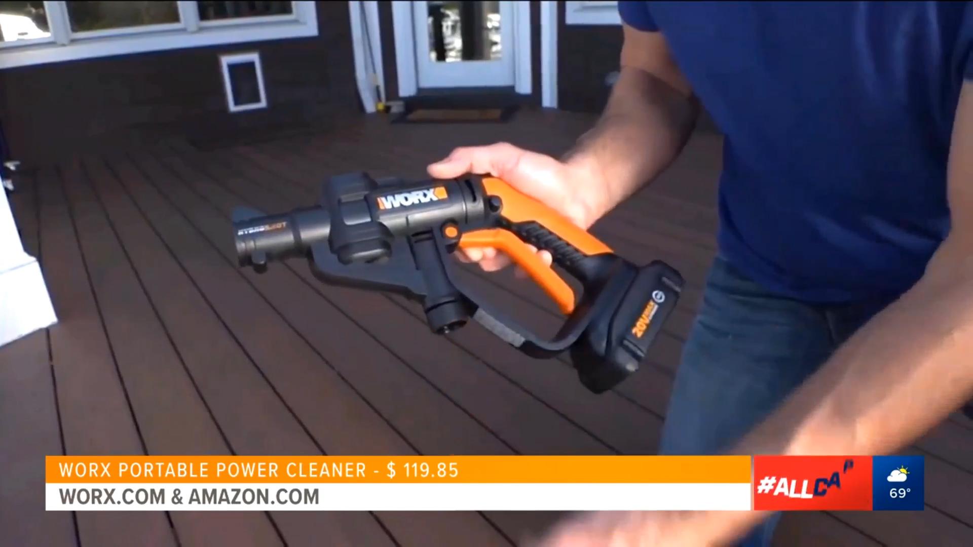 WORX HYDROSHOT PORTABLE POWER CLEANER - $119.85Shop Nowvia Worx or Amazon