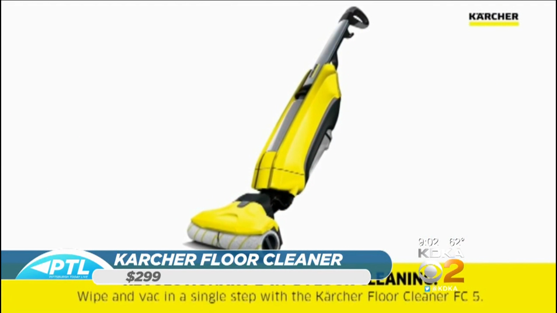 KARCHER FC5 FLOOR CLEANER - $299.99Shop Now or via Amazon