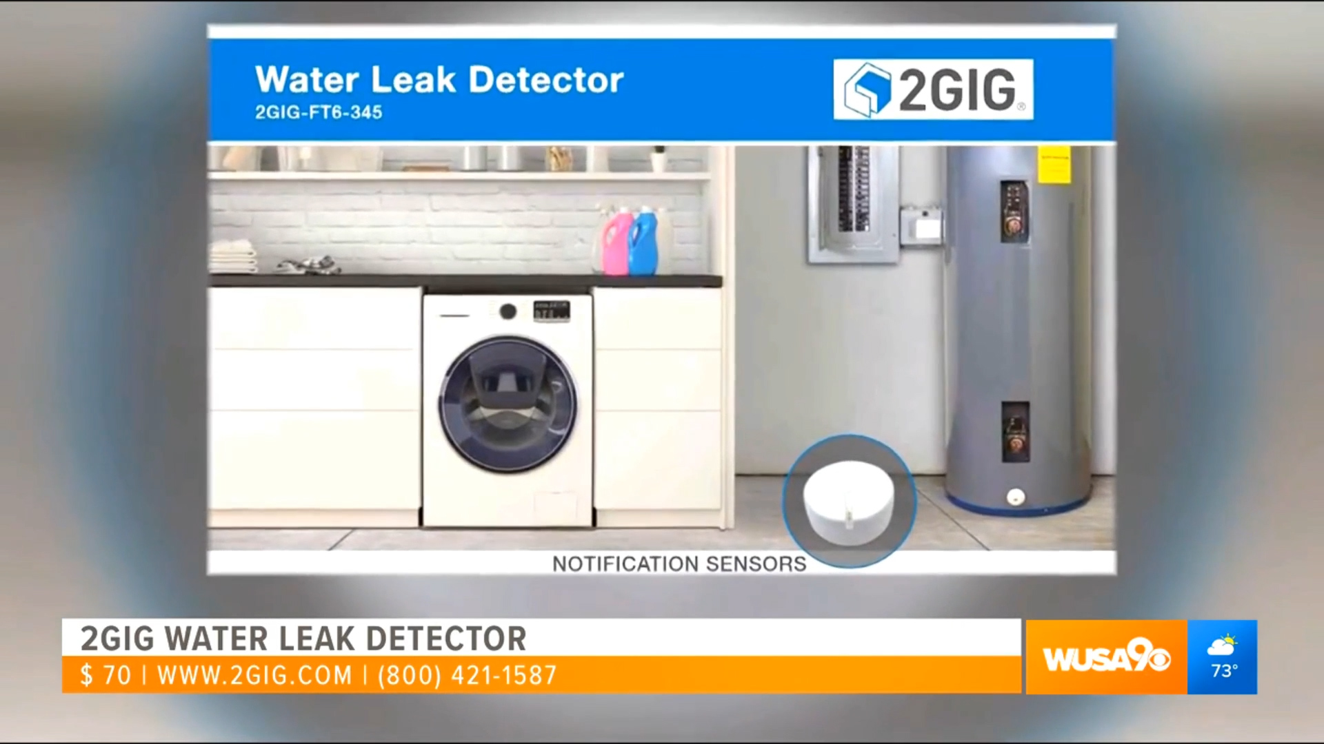 2GIG WATER LEAK DETECTOR - $70.00Shop Now