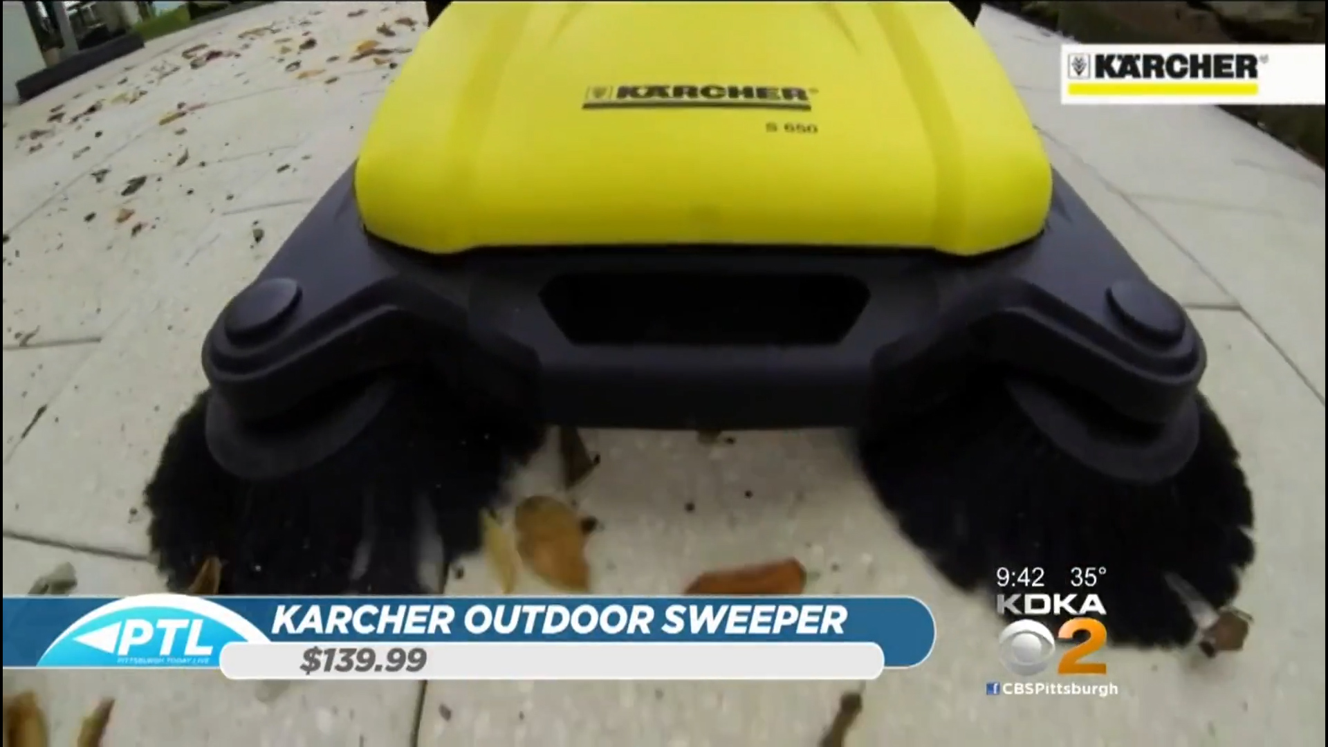 KARCHER S-650 OUTDOOR SWEEPER - $139.99Shop Now