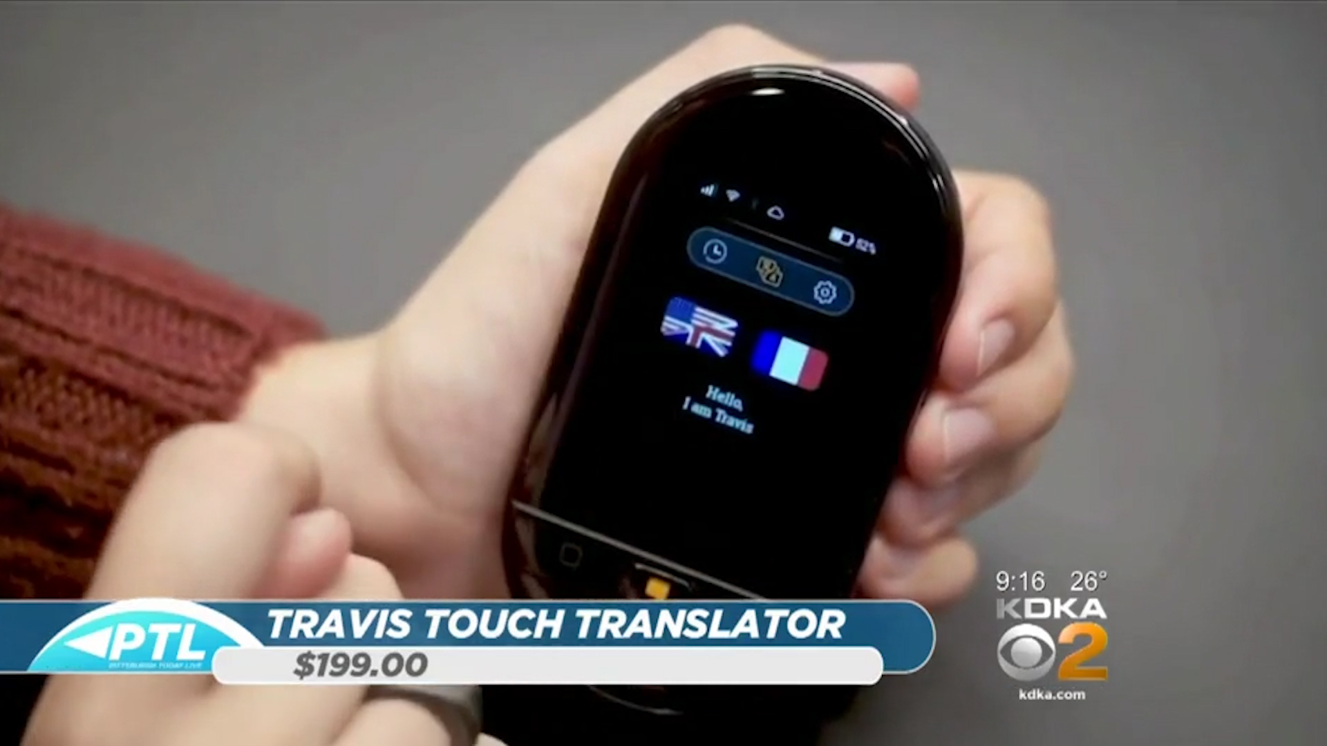 TRAVIS TOUCH TRANSLATOR - $199.00Shop Now