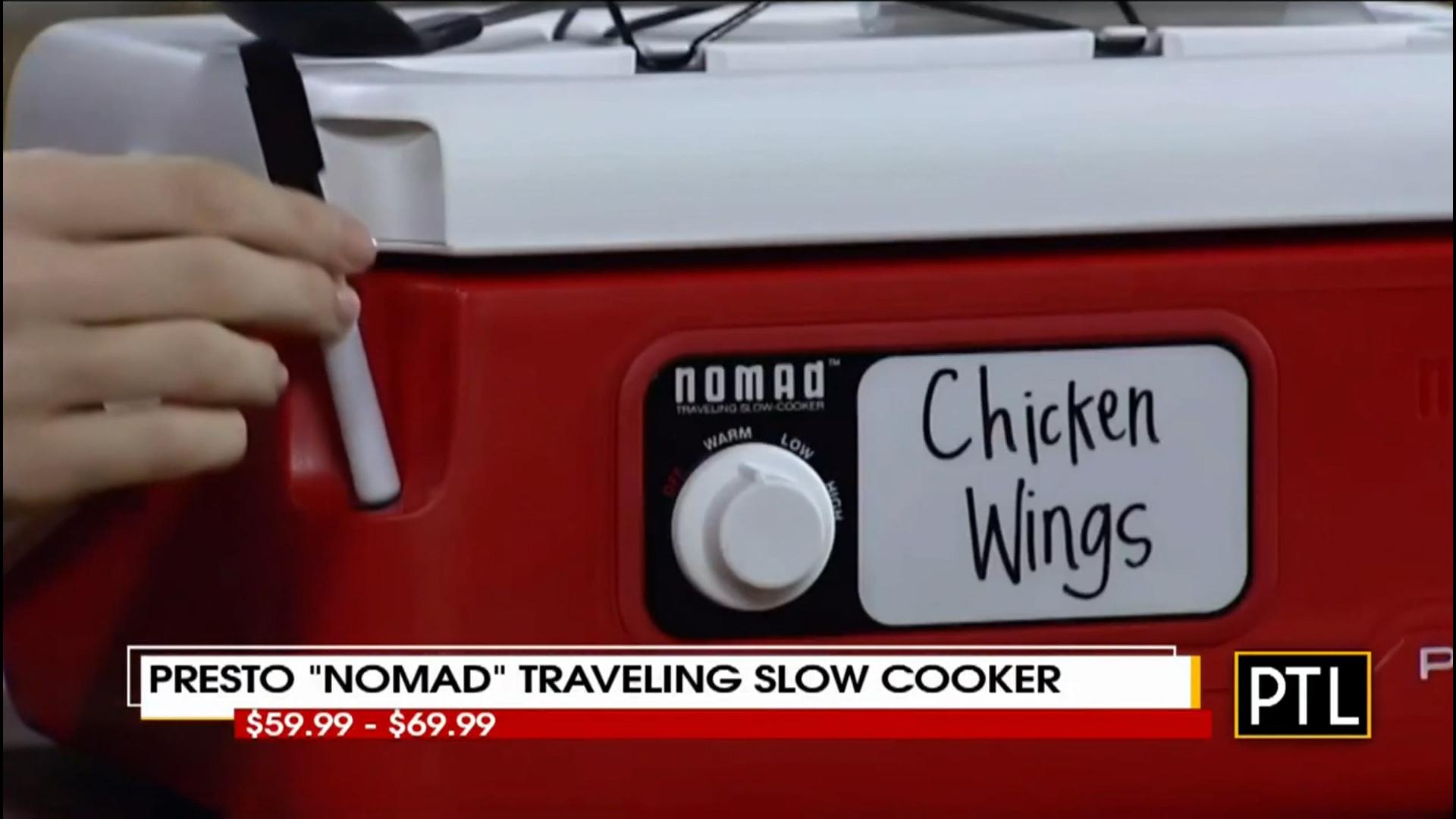 """PRESTO """"NOMAD"""" Traveling Slow Cooker - $59.99 6 Qt. 69.99 8 Qt.     Shop Now"""