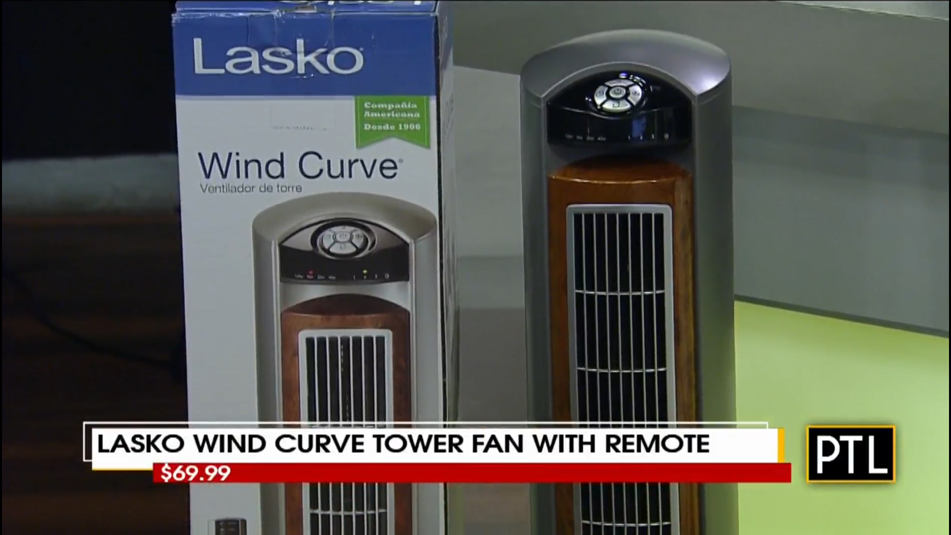 LASKO WIND CURVE TOWER FAN with REMOTE - $69.99Shop Now