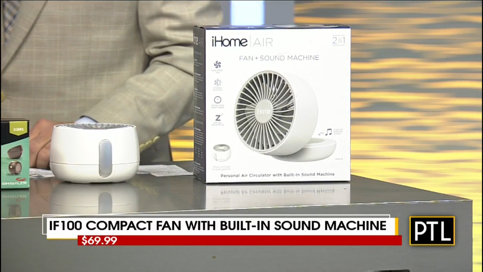 iF100 COMPACT FAN with BUILT-IN SOUND MACHINE - $69.99Shop Now