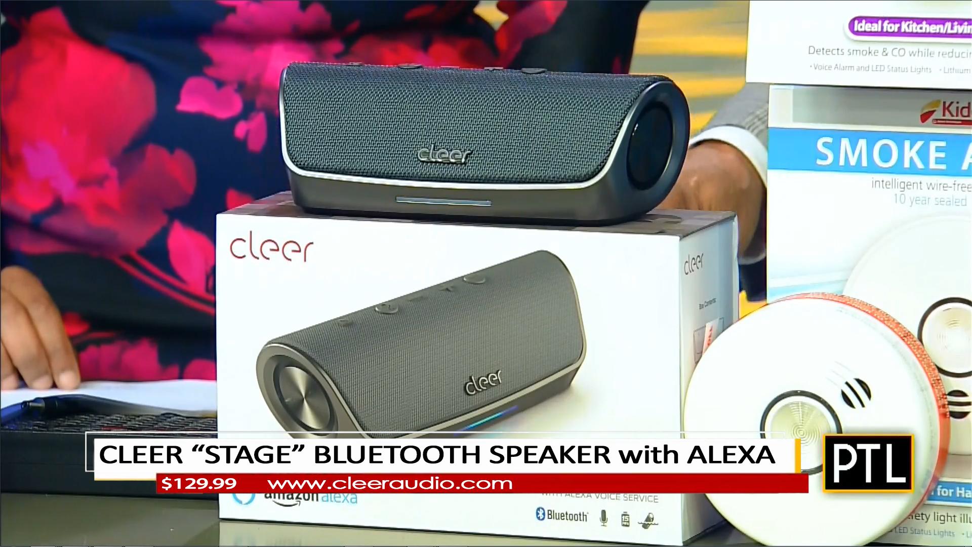 "CLEER ""STAGE"" BLUETOOTH SPEAKER w/ALEXA - $129.99Shop Now"