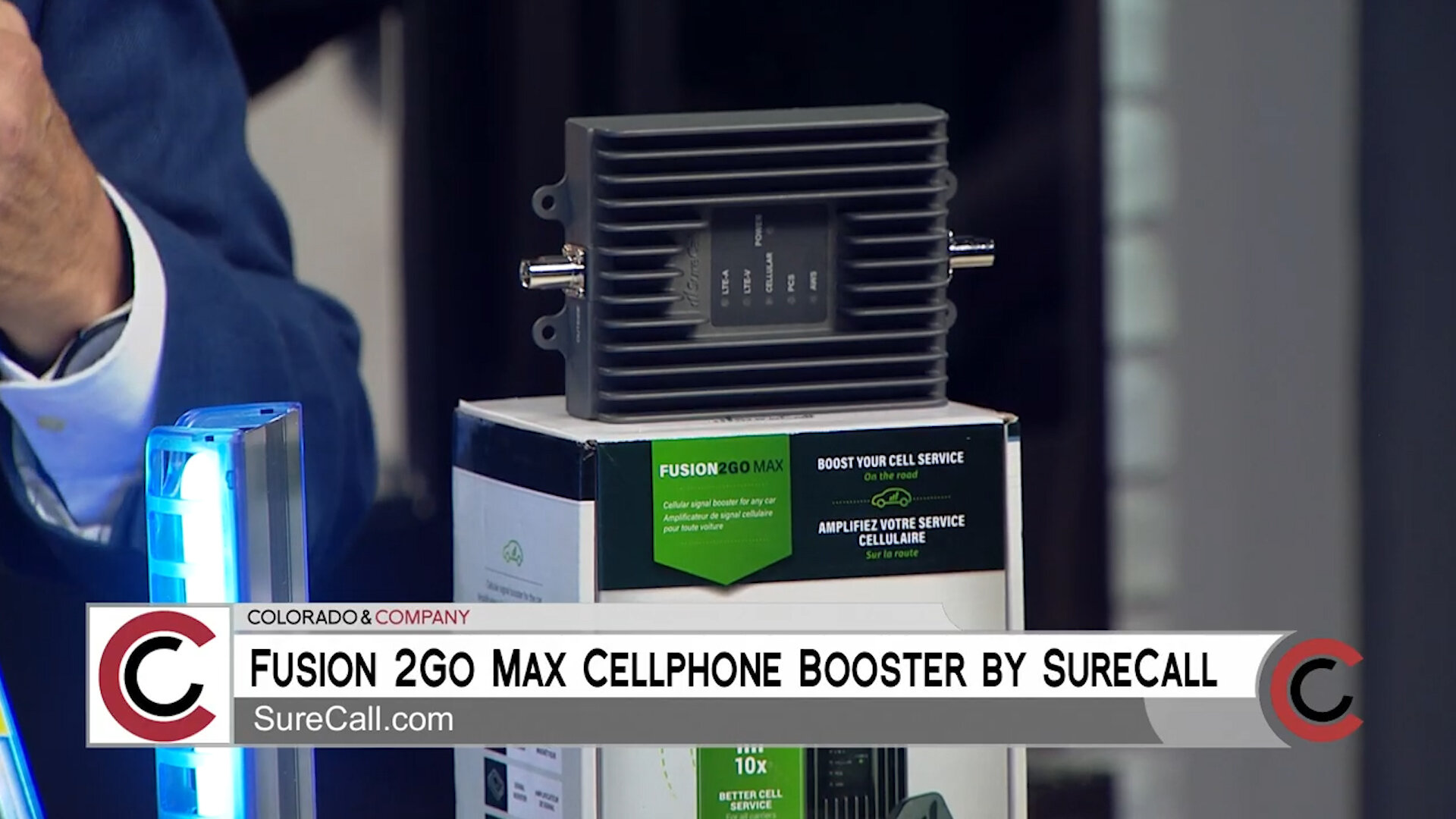 """""""FUSION 2GO MAX"""" CELL PHONE BOOSTER by SURECALL - $499.00Shop Now"""