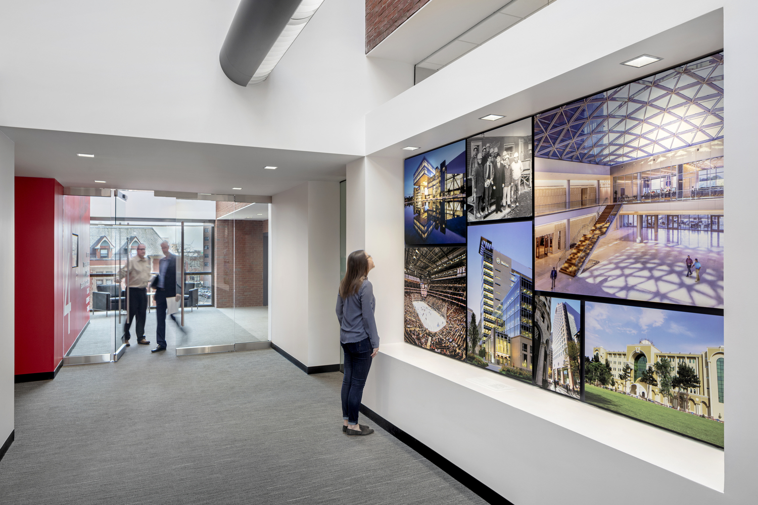 Since 1873 - Gilbane Building Company is celebrating over 140 years of existence. While undergoing a complete interior and architectural renovation for their 4-story headquarters in Providence, RI, the client realized that they needed to fully brand their space.