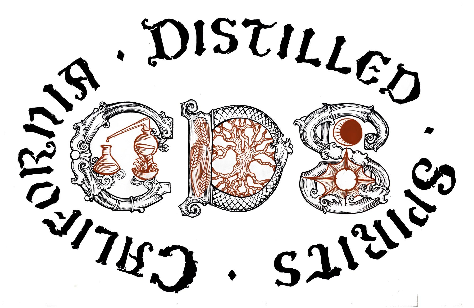 Gin label logo