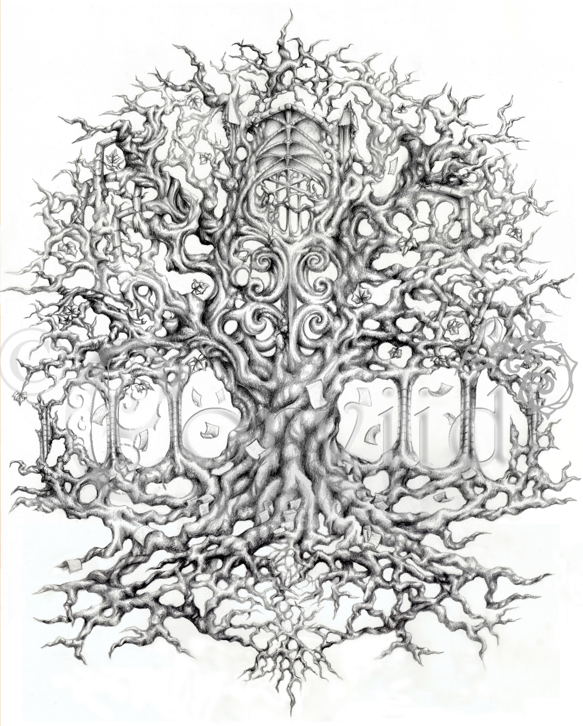 Tree of Knowledge back piece