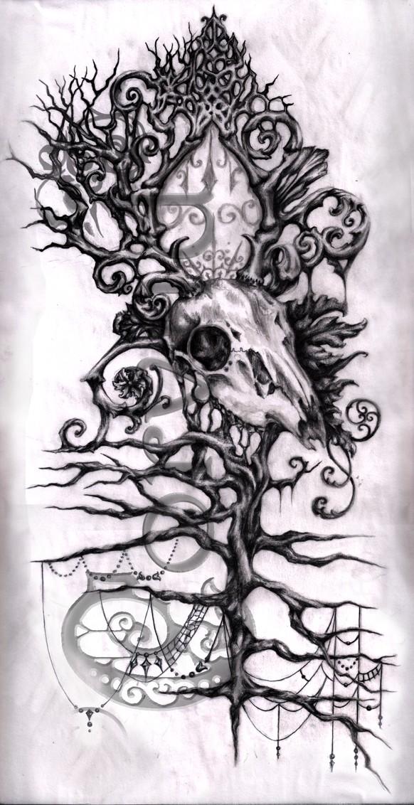Deer skull side piece
