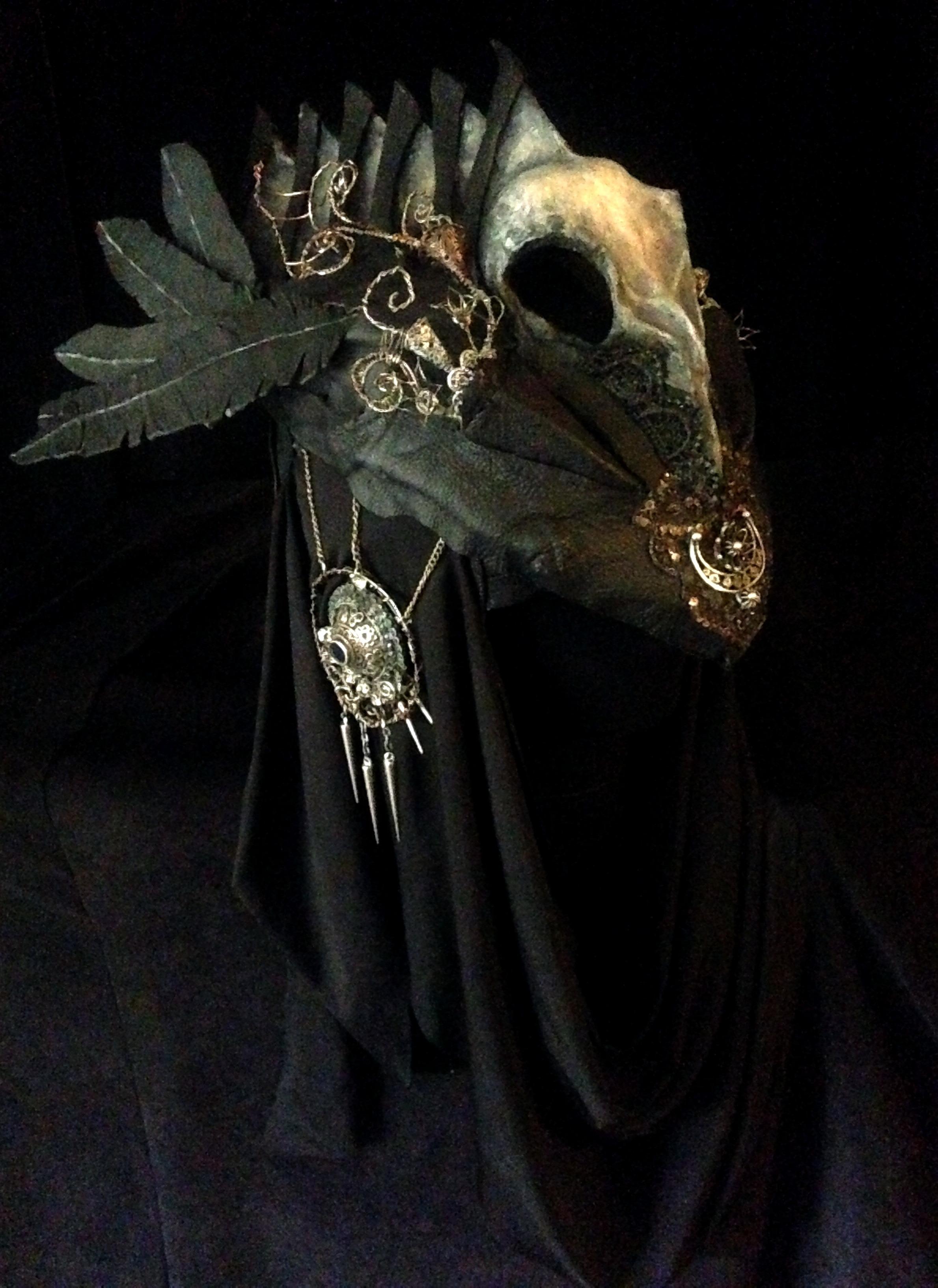 Corviid Headdress