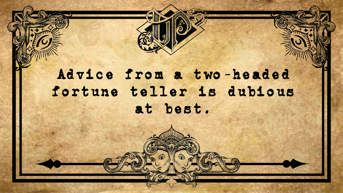 Fortune Teller Card front