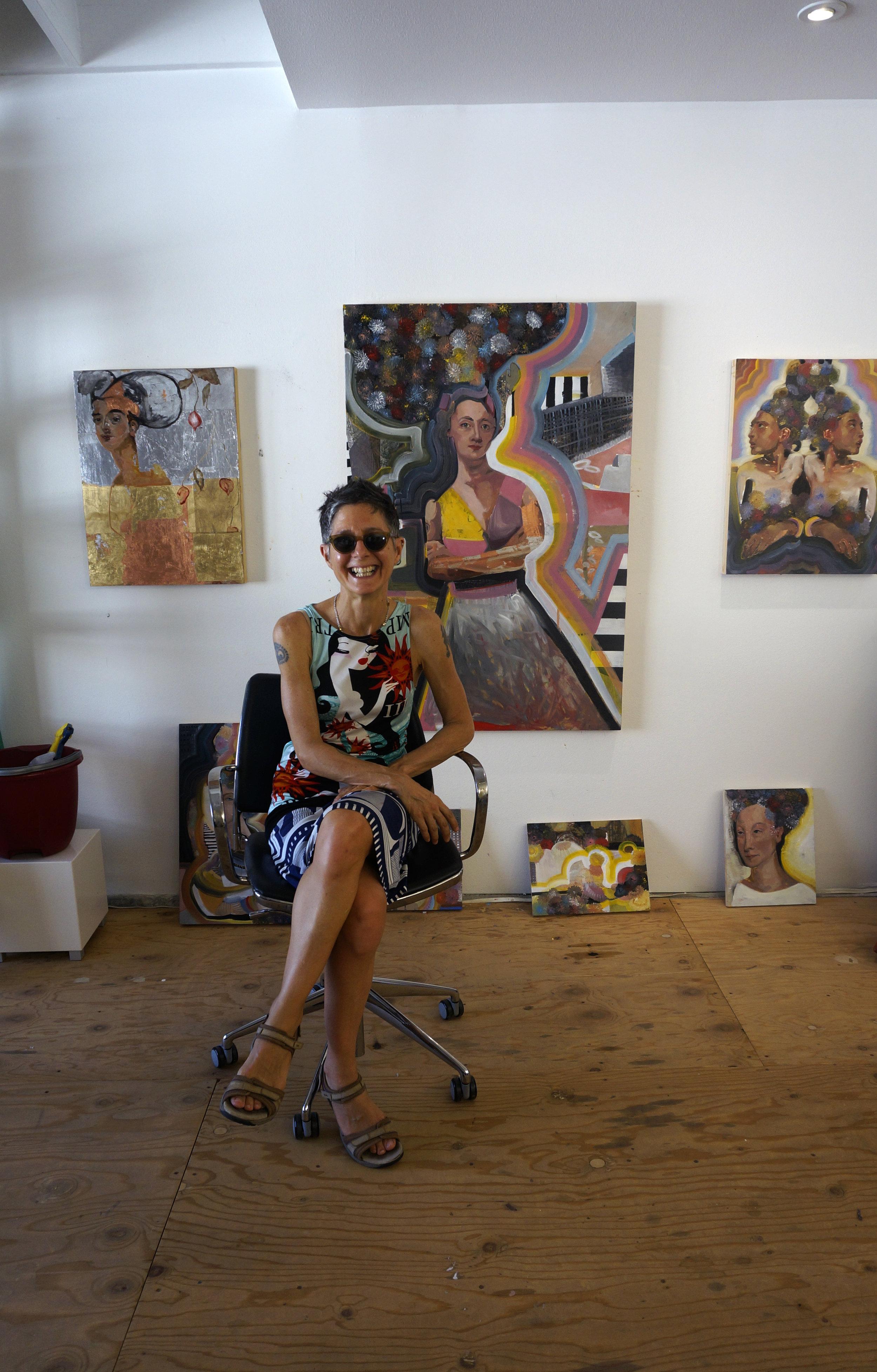 kim manfredi in her studio, 2018