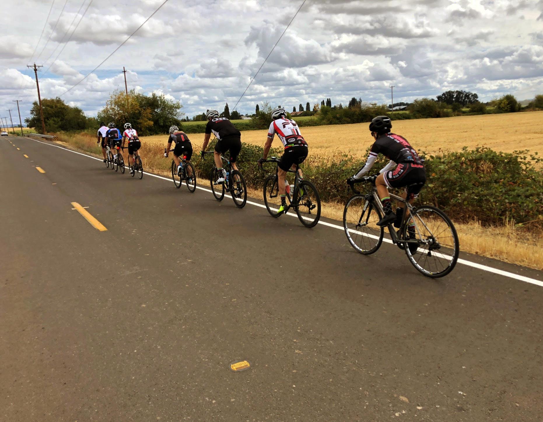 kim cycling in oregon, 2018