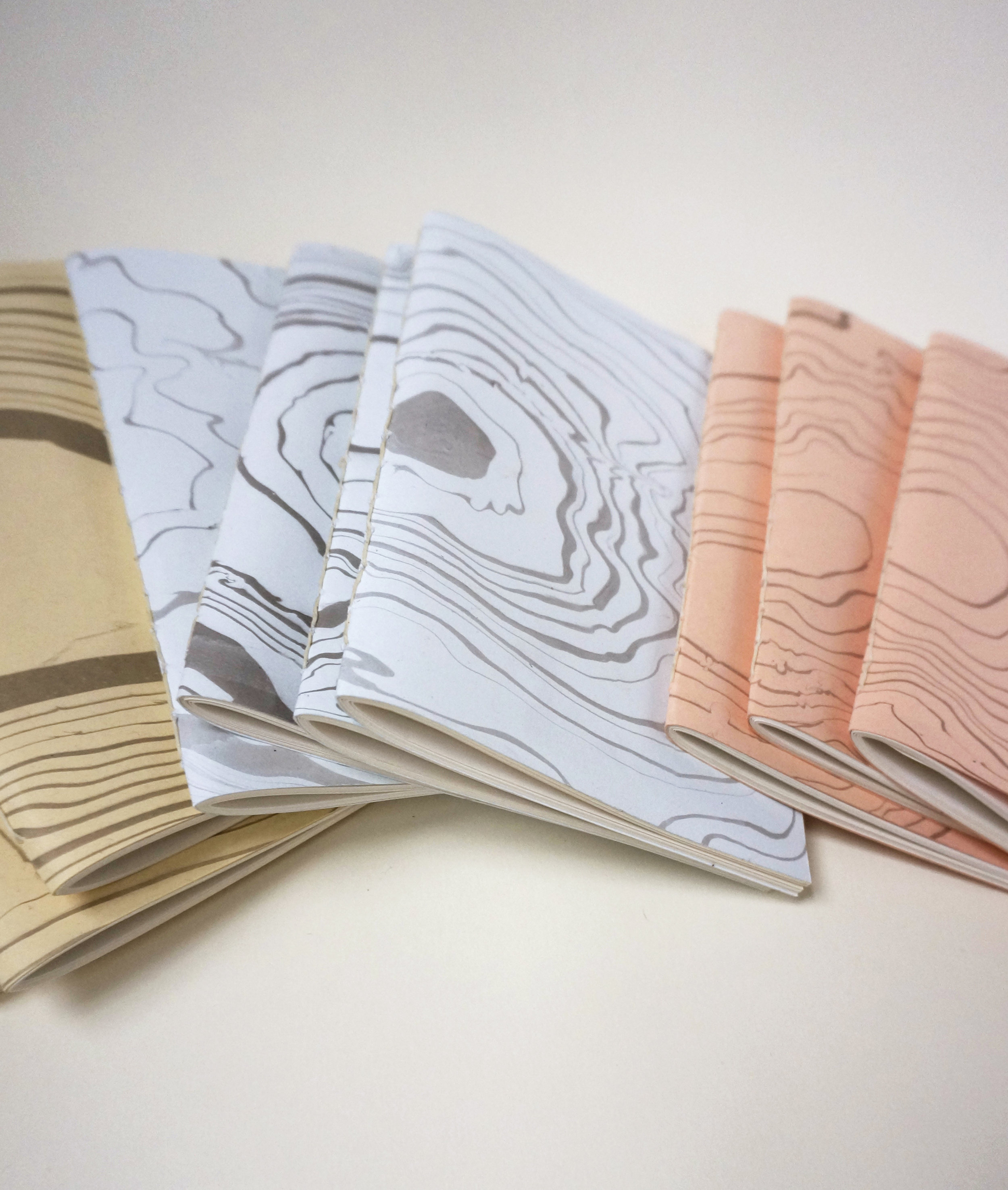 maps journals - all together by color.JPG