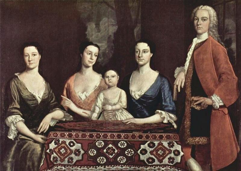 1741 Robert Feke (American colonial era artist, 1707-1751). Family of Isaac Royall..jpg
