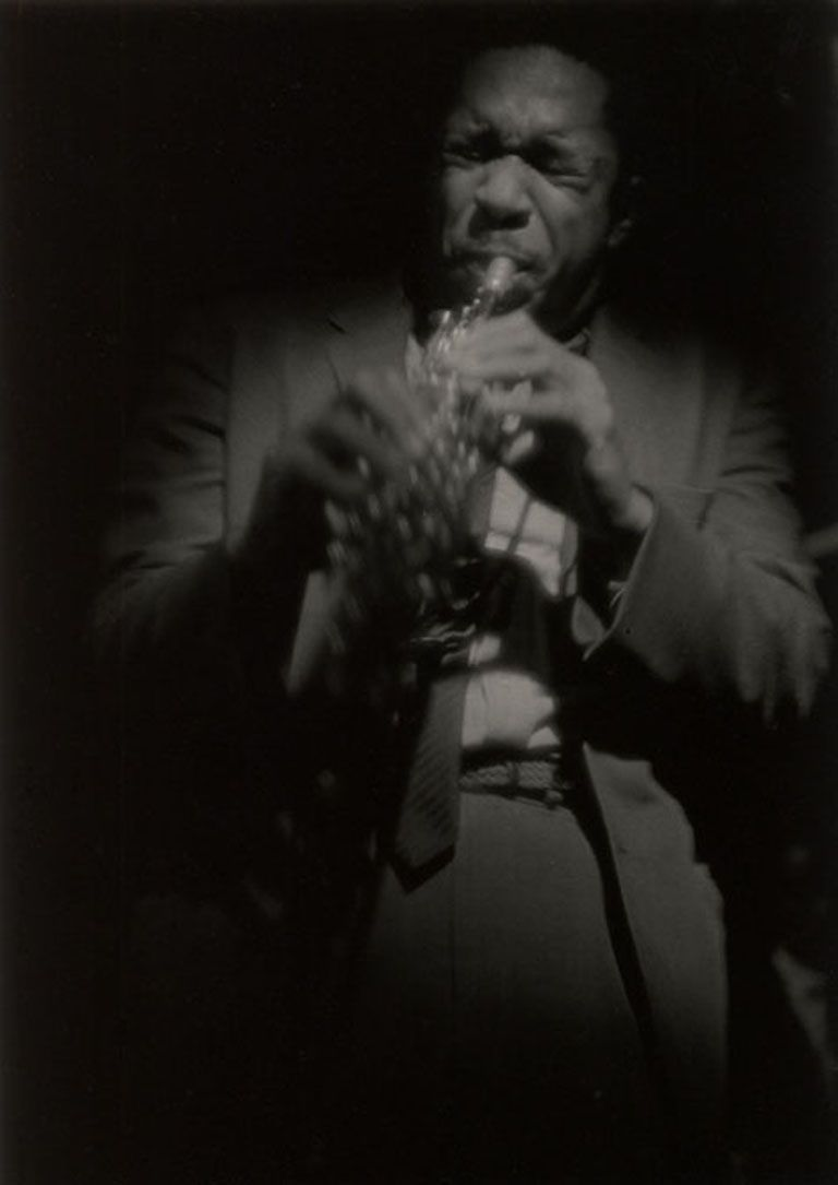 Coltrane on soprano, 1963. Photograph by Roy DeCarava(c) Estate of Roy DeCarava 2017. All Rights Reserved.