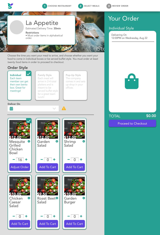 Order Screen