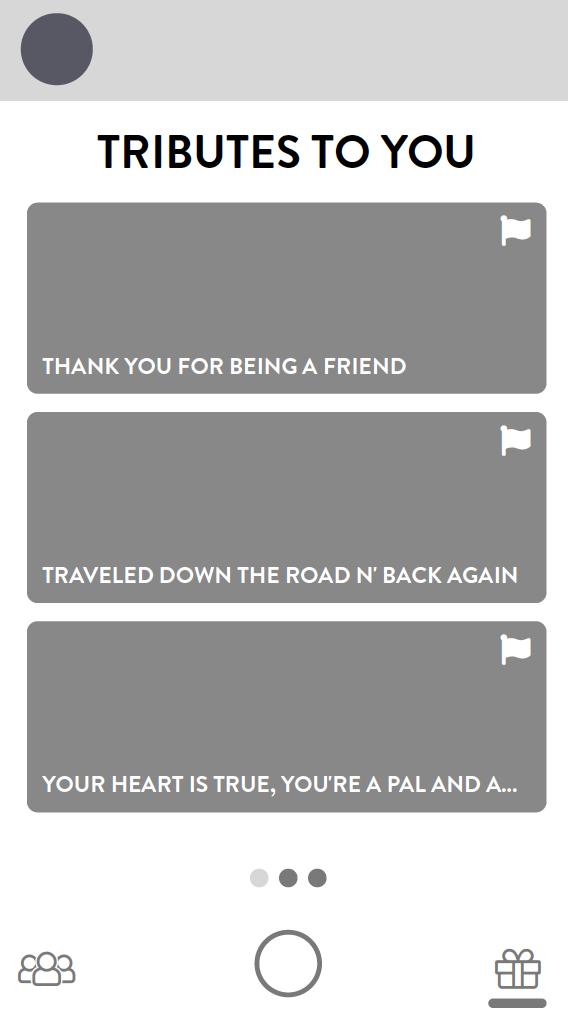 Tribute Inbox Screen