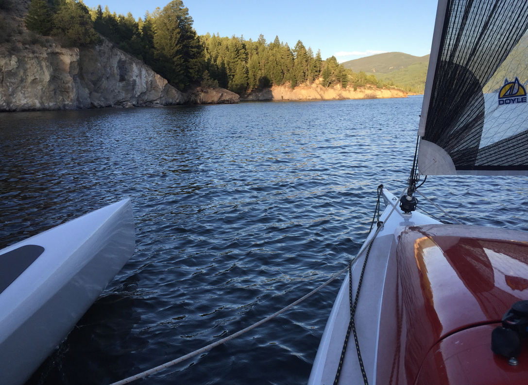 Sailing on Reudi Reservoir