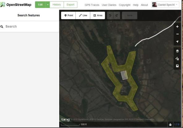 Figure 3. OpenStreetMap editing tools