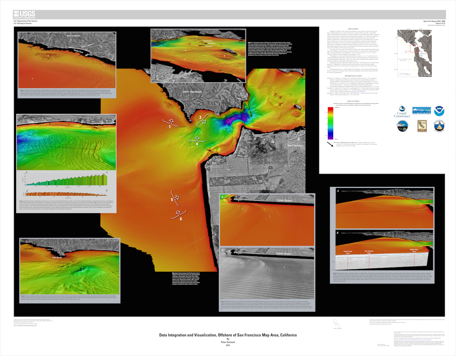 Data Integration and Visualization Offshore San Francisco USGS